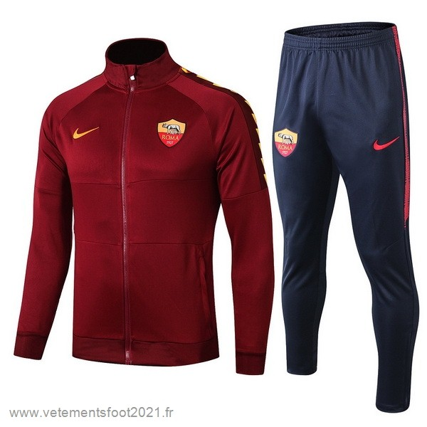 Survêtements Enfant AS Roma 2019 2020 Rouge Marine Maillot De Sport