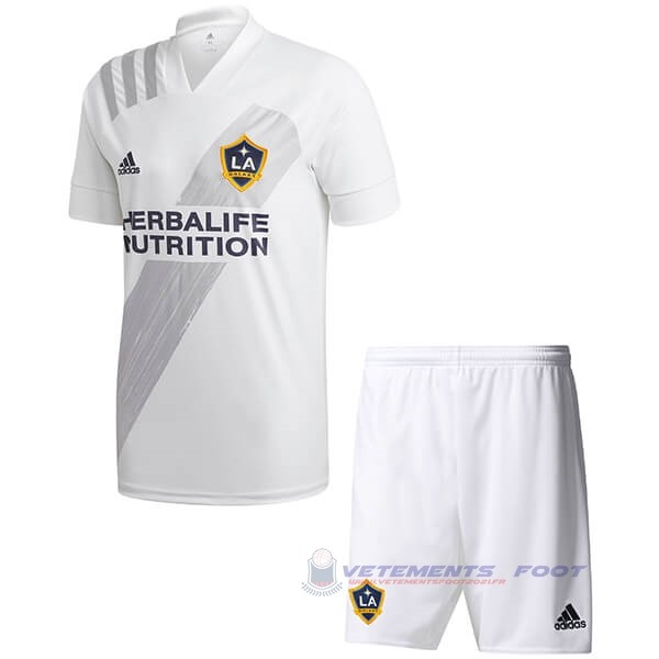 Domicile Ensemble Enfant Los Angeles Galaxy 2020 2021 Blanc Maillot De Sport