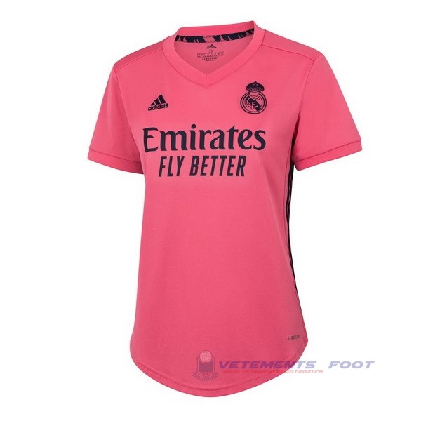Exterieur Maillot Femme Real Madrid 2020 2021 Rose Maillot De Sport