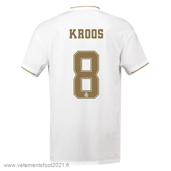 NO.8 Kroos Domicile Maillot Real Madrid 2019 2020 Blanc Maillot De Sport