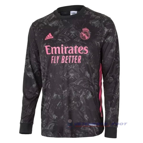 Third Manches Longues Real Madrid 2020 2021 Noir Maillot De Sport